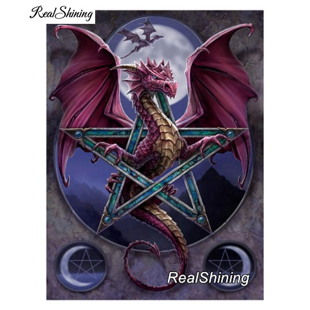 5D Diamond Painting Dragon Star Kit
