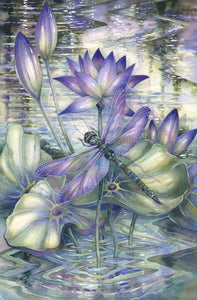 5D Diamond Painting Dragonfly Lily pads Kit