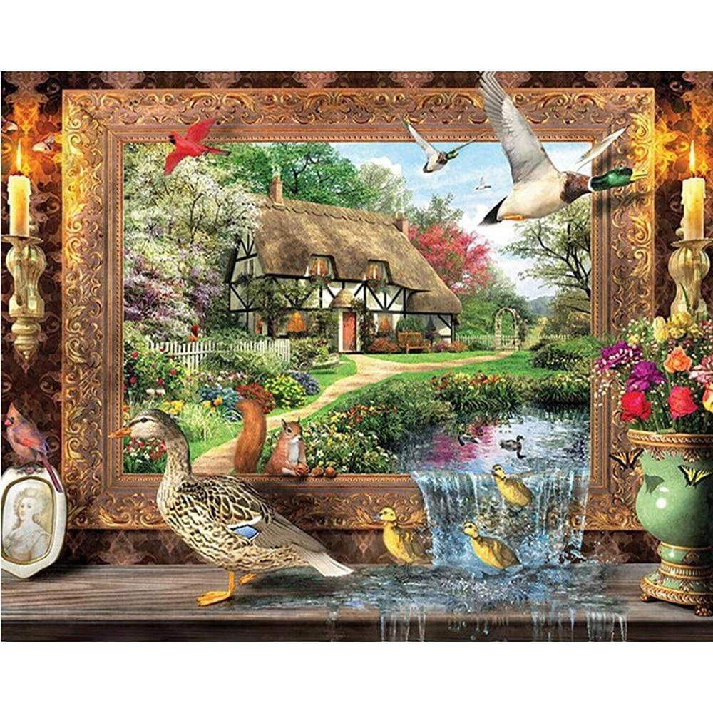 5D Diamond Painting Duck Escape Picture Kit