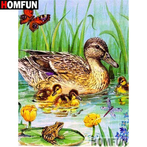 5D Diamond Painting Ducks in the Water Kit