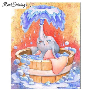 5D Diamond Painting Dumbo Bath Kit
