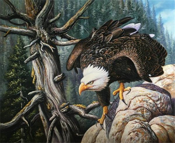 5D Diamond Painting Eagle Tree Kit