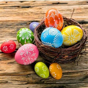 5D Diamond Painting Easter Eggs on a Wood Table Kit