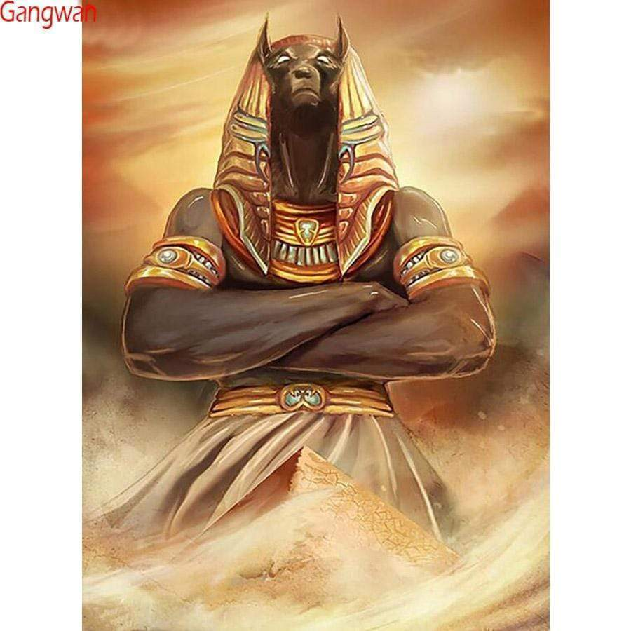 5D Diamond Painting Egyptian Anubis Kit