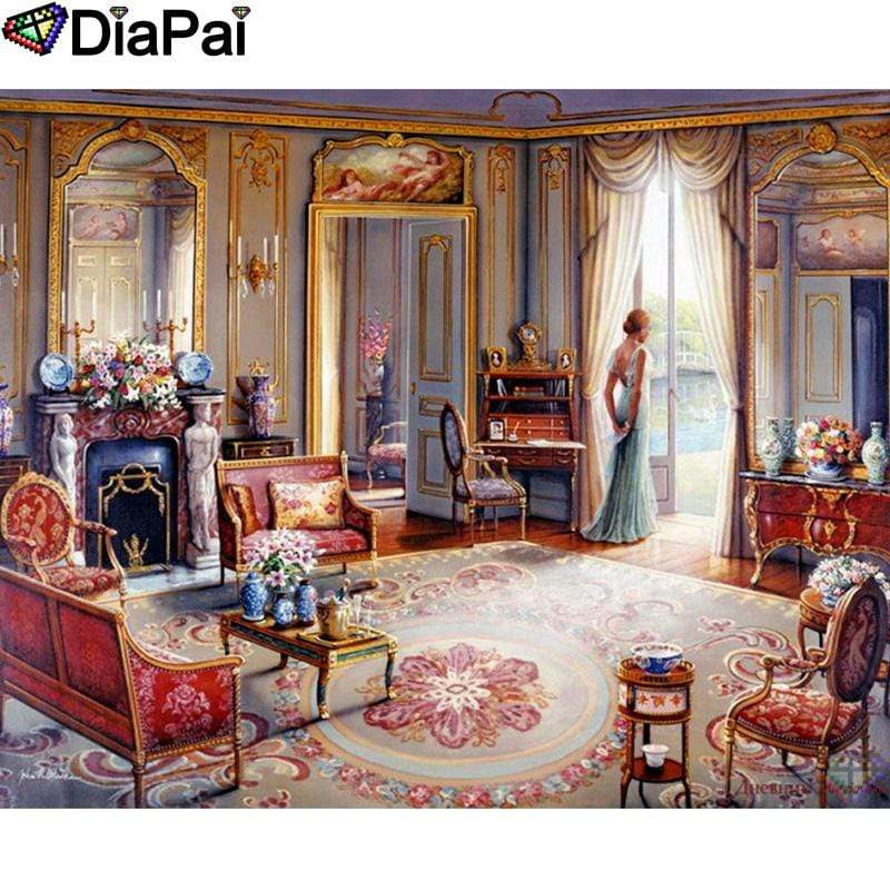 5D Diamond Painting Elegant Living Room Kit