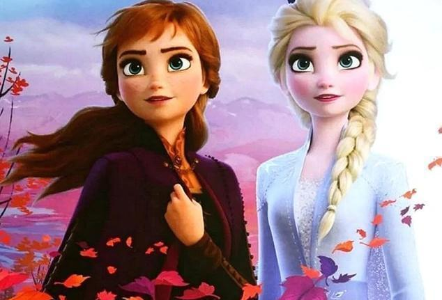 5D Diamond Painting Elsa and Anna in the Leaves Kit