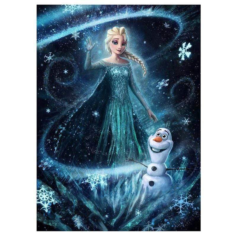 5D Diamond Painting Elsa and Olaf Frozen Kit