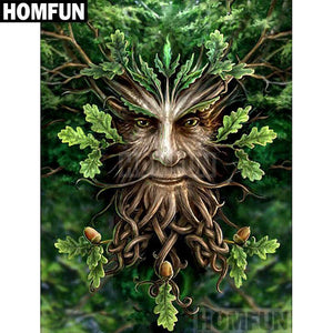 5D Diamond Painting Face in the Tree Kit