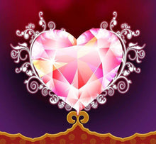 5D Diamond Painting Faceted Heart Kit