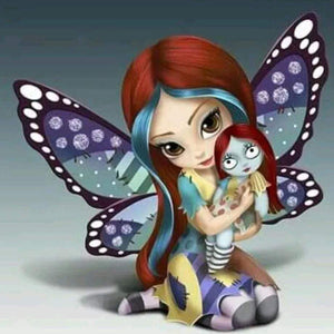 5D Diamond Painting Fairy and Her Doll Kit