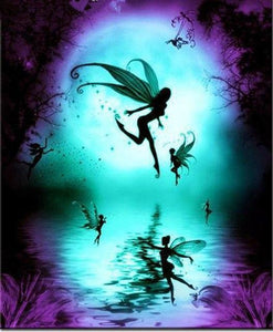 5D Diamond Painting Fairy Silhouttes Kit