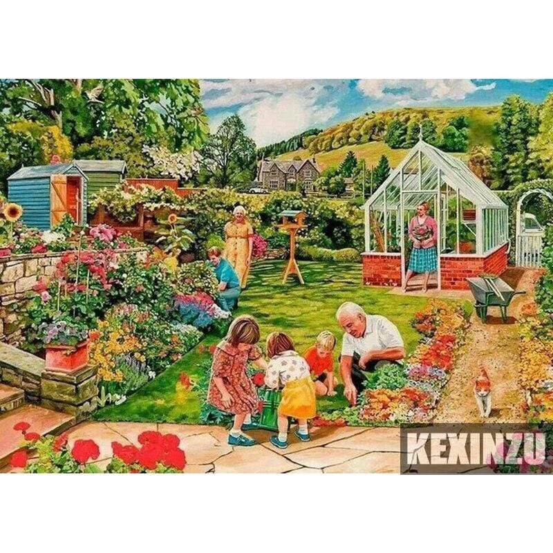 5D Diamond Painting Family Gardening Kit