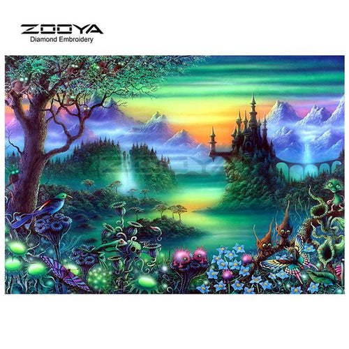 5D Diamond Painting Fantasy Landscape Kit