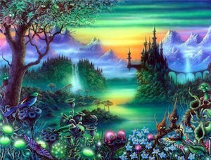5D Diamond Painting Far Away Fantasy Kingdom Kit