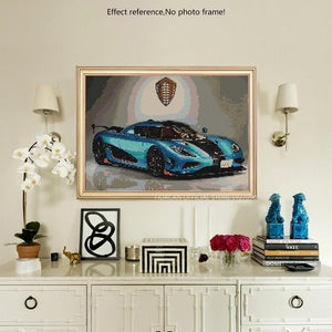 5D Diamond Painting Fast Cars Kit