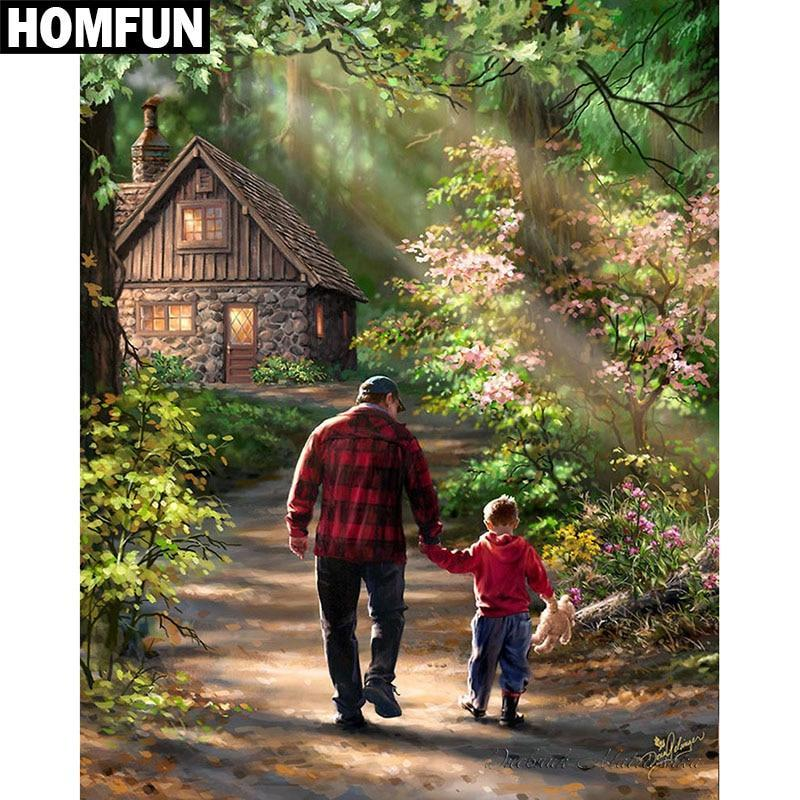 5D Diamond Painting Father and Son Kit