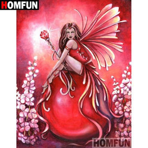 5D Diamond Painting Fiery Red Fairy Kit