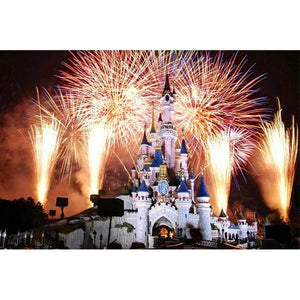 5D Diamond Painting Firework Castle Kit