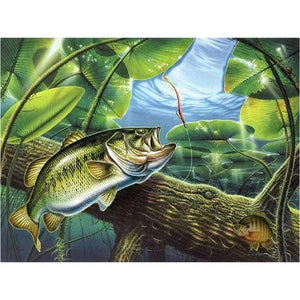 5D Diamond Painting Fish in the Pond Kit