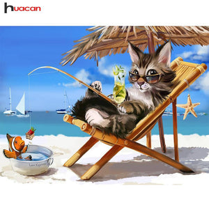 5D Diamond Painting Fishing Cat Kit