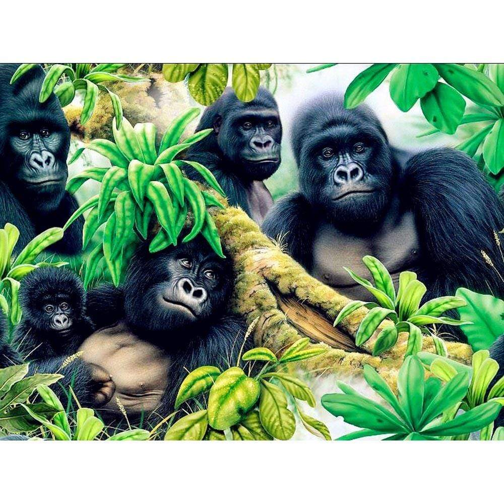 5D Diamond Painting Five Gorillas Kit