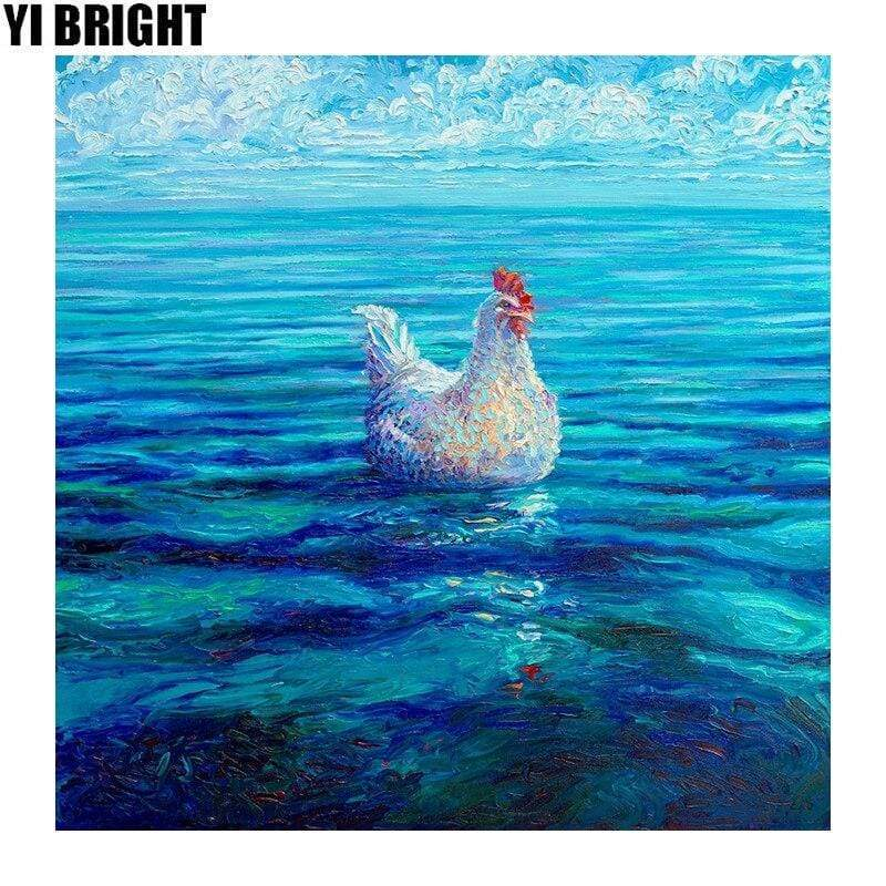 5D Diamond Painting Floating Chicken Kit