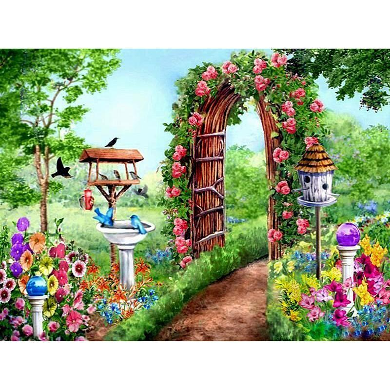 5D Diamond Painting Flower Garden Kit