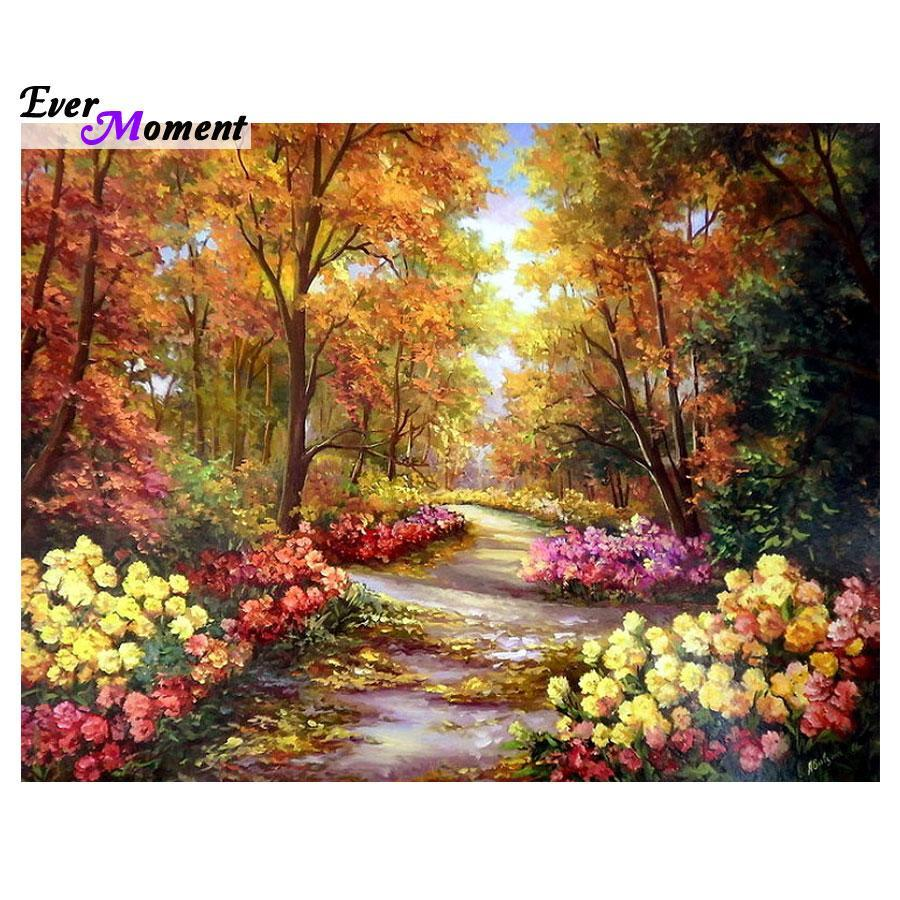 5D Diamond Painting Flower Lane Kit