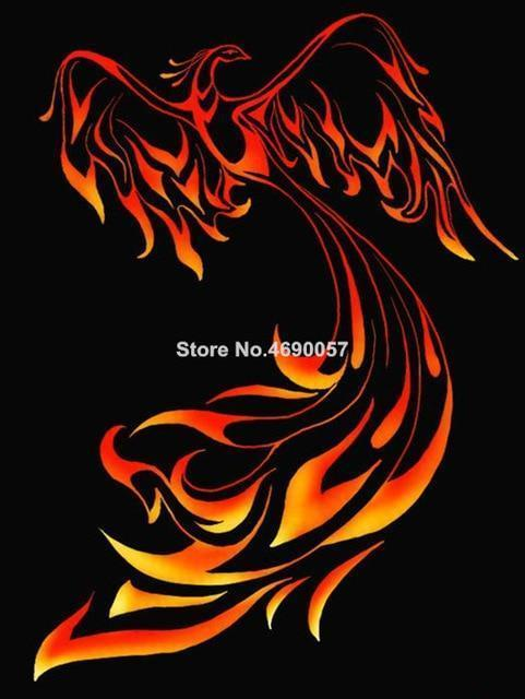 5D Diamond Painting Flying Fire Phoenix Kit