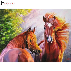 5D Diamond Painting Flying Mane Horses Kit
