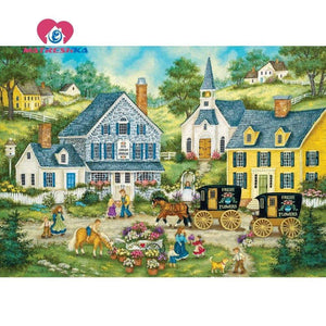 5D Diamond Painting Fresh Flower Wagons Kit