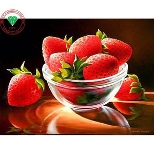 5D Diamond Painting Fresh Strawberries Kit