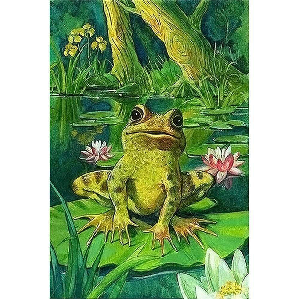 5D Diamond Painting Frog on a Lilly Pad Kit