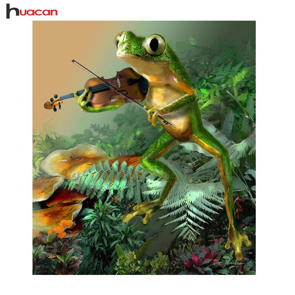 5D Diamond Painting Frog Violinist Kit