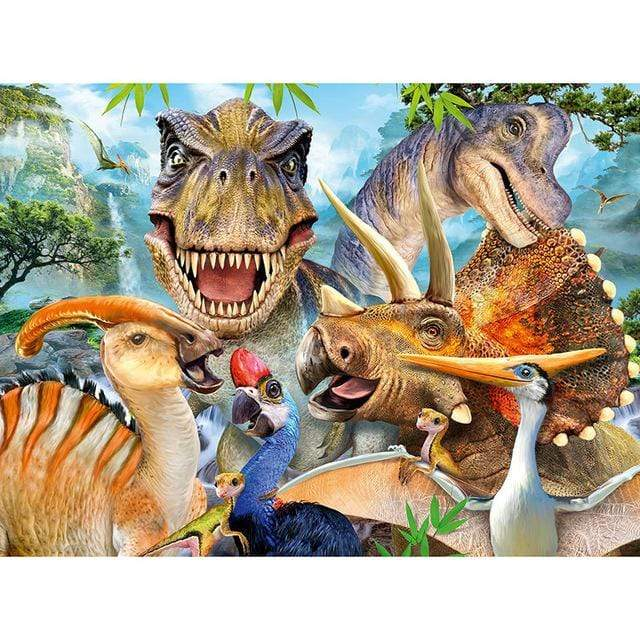 5D Diamond Painting Funny Dinosaurs Kit