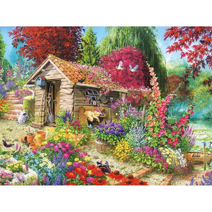 5D Diamond Painting Garden Shed Kit