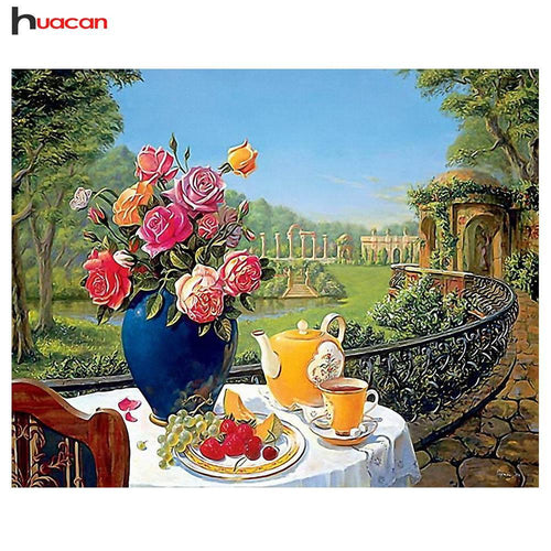 5D Diamond Painting Garden Side Breakfast Kit