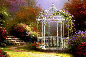 5D Diamond Painting Gazebo in the Garden Kit