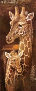 5D Diamond Painting Giraffe Mother and Baby Kit