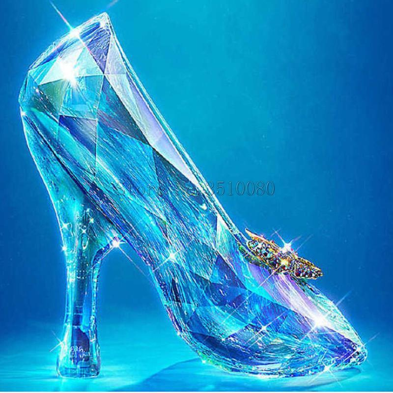 5D Diamond Painting Glass Slipper Kit