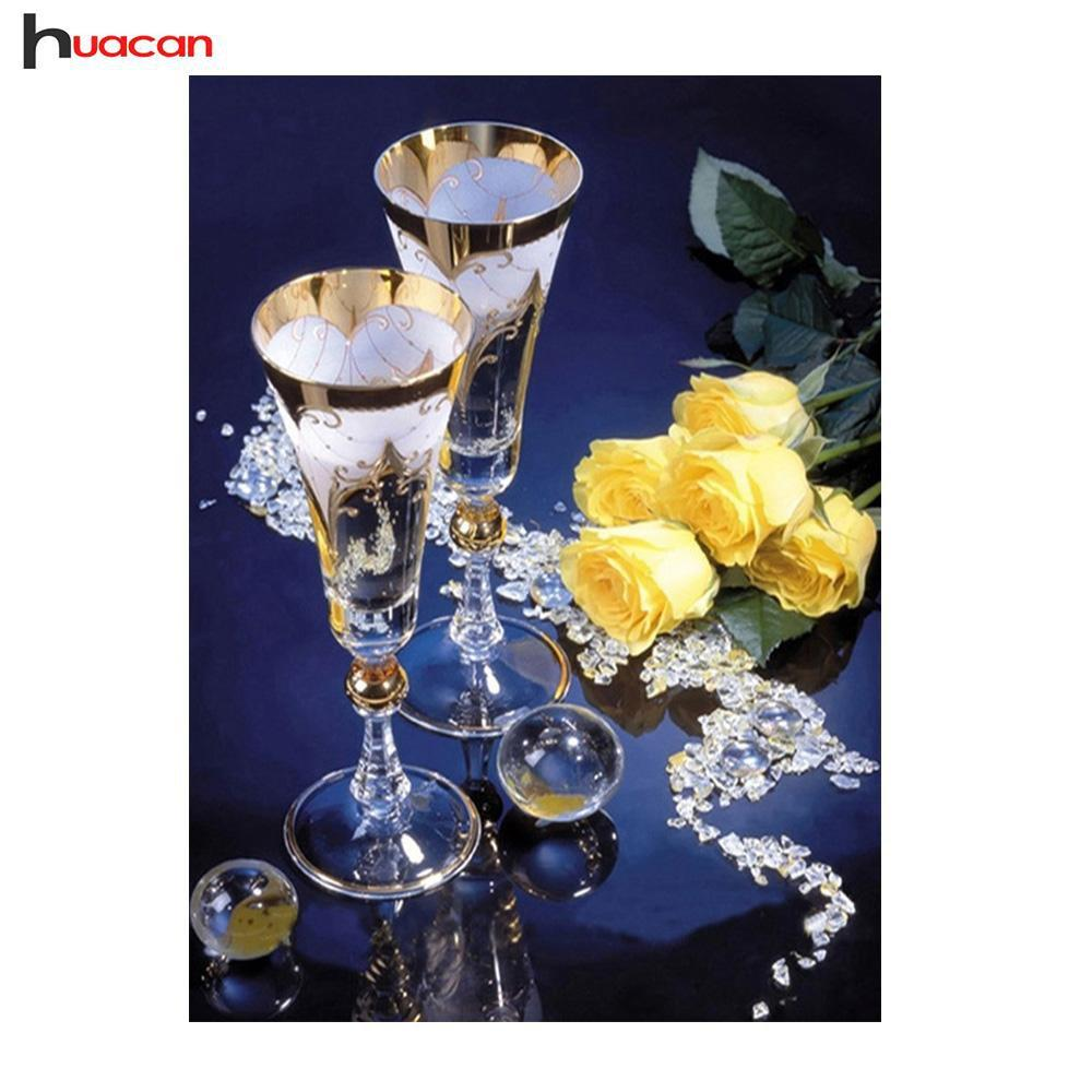 5D Diamond Painting Glasses and Roses Kit