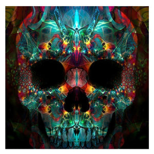 5D Diamond Painting Glowing Skull Kit