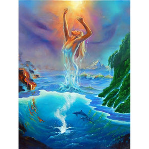 5D Diamond Painting Goddess of the Sea Kit