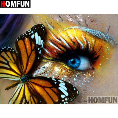 5D Diamond Painting Gold Butterfly Eye Kit