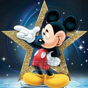 5D Diamond Painting Gold Star Mickey Mouse Kit