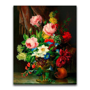 5D Diamond Painting Gold Vase Flowers Kit