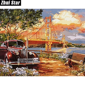 5D Diamond Painting Golden Gate Bridge Kit