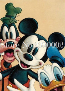 5D Diamond Painting Goofy, Mickey and Donald Welcome Kit