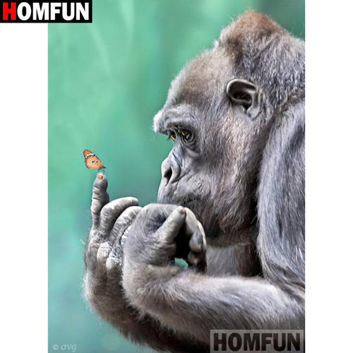 5D Diamond Painting Gorilla and the Butterfly Kit