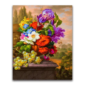 5D Diamond Painting Grapes and Flowers Kit
